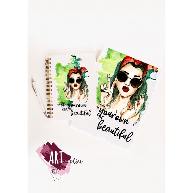 Gift Pack T-shirt for Women + Planner - Be your own beauty