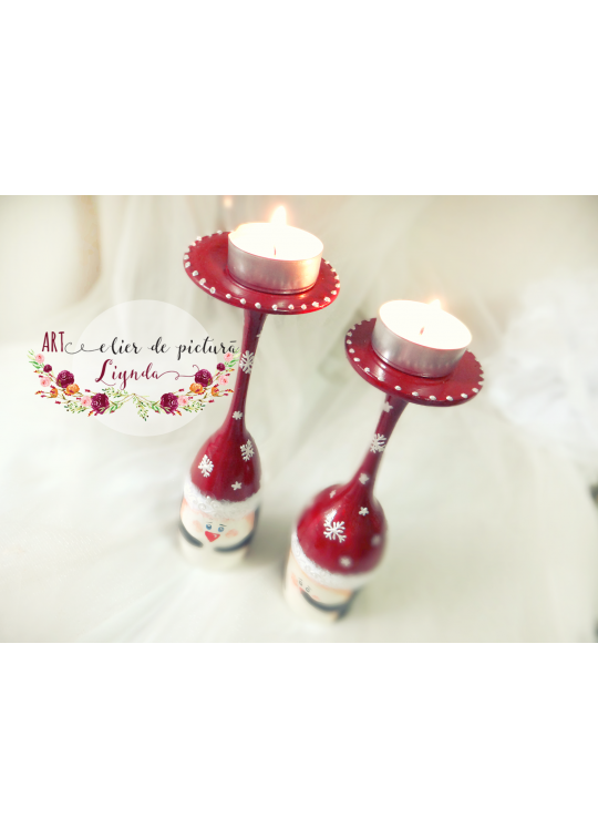 Christmas glasses & candle decors  (2)