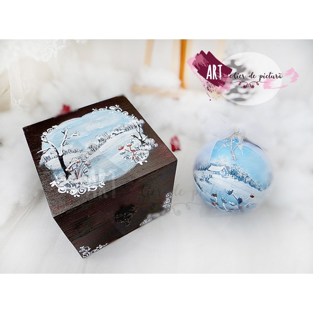 Blue Christmas Set 1X12cm