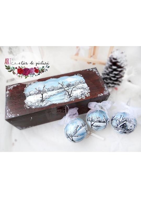 """""""Blue Christmas"""" Set 3x8cm"""