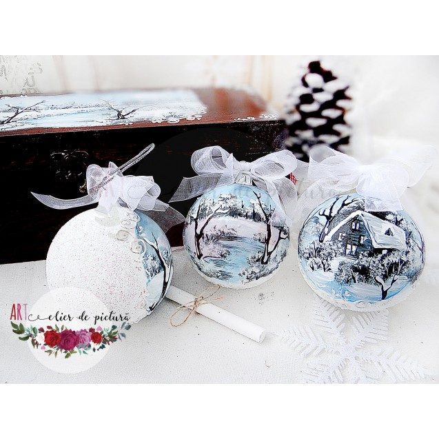 """Blue Christmas"" Set 3x8cm"