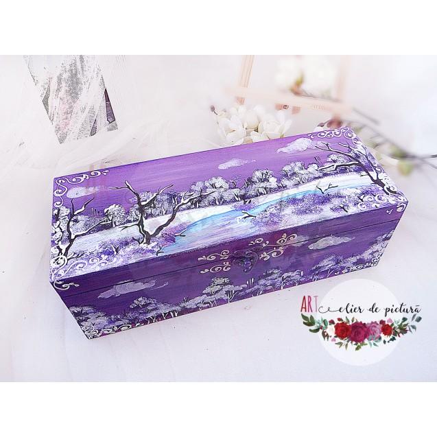 Violet Christmas Set 2X10cm