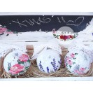 "Set Craciun ""Shabby Chic floral"""