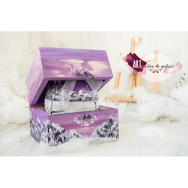 """Violet Christmas""Set 1X12 cm"