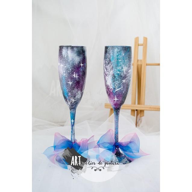 "Handpainted glasses ""Galaxy"""