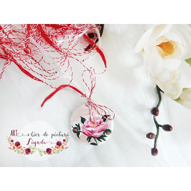 Martisoare pictate cu flori, elegante