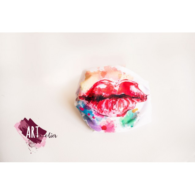 Textile Face Mask Printed with Lips