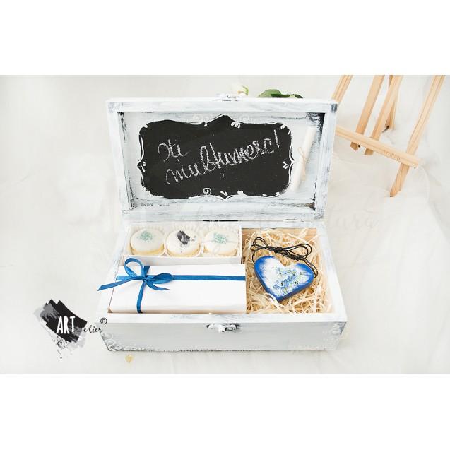 Gift box, handmade - Thank You - nu ma uita