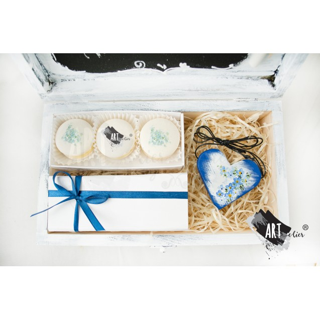 Gift box, handmade - Thank You - Lilly of the valley