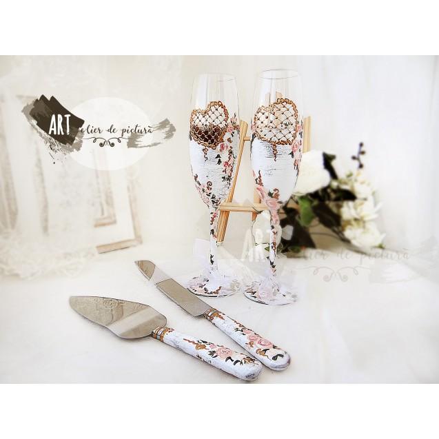 Fairy Dream, handpainted wedding set