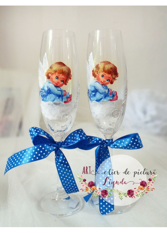Hand-painted glasses for baptism (9)