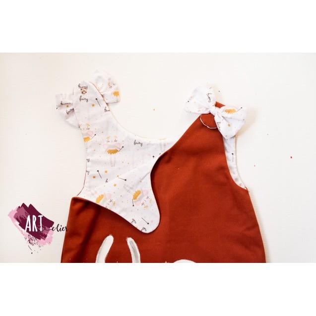 Handpainted Sundress for girls, Rabbit -  Ballerina