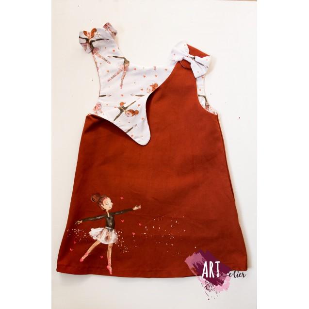 Handpainted Sundress for girls, Ballerina