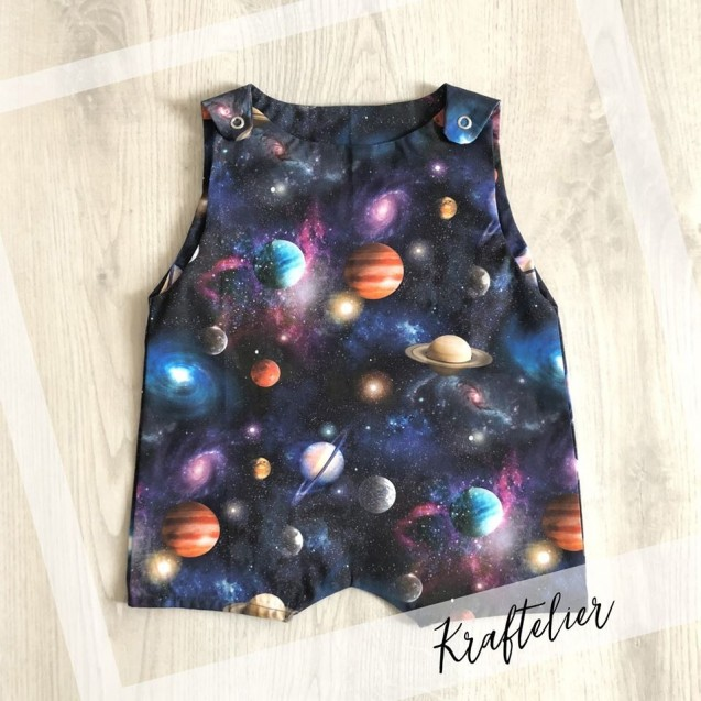 New born BabyARTistic Set Little Prince Themed with Galaxy Themed Baby Overall