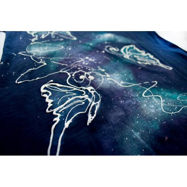 Handpainted T-shirt Cosmic Butterflies