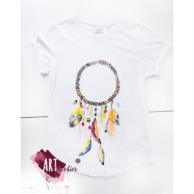 Handpainted T-shirt Dreamcatcher