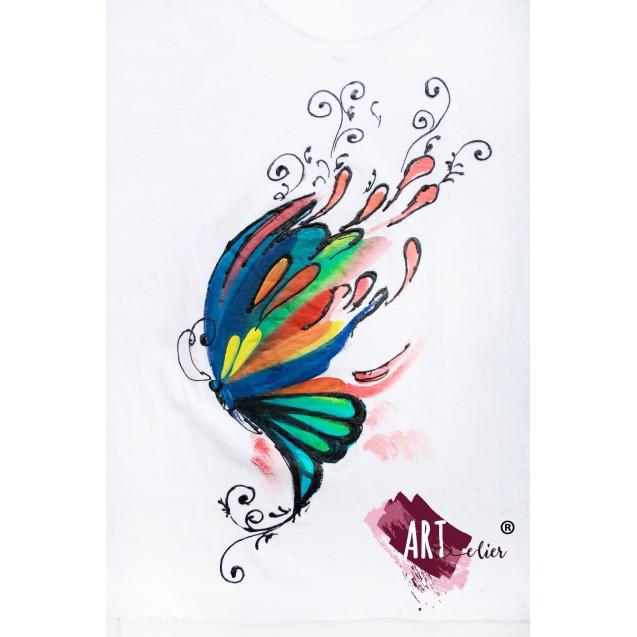Handpainted T-shirt Dream Butterfly