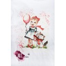 Handpainted & Printed T-shirt Happy Little Girl