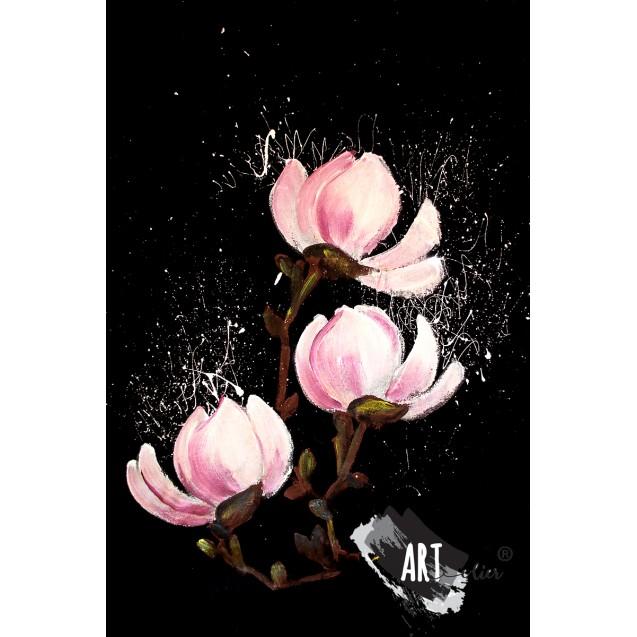 Handpainted T-shirt Sweet Magnolia