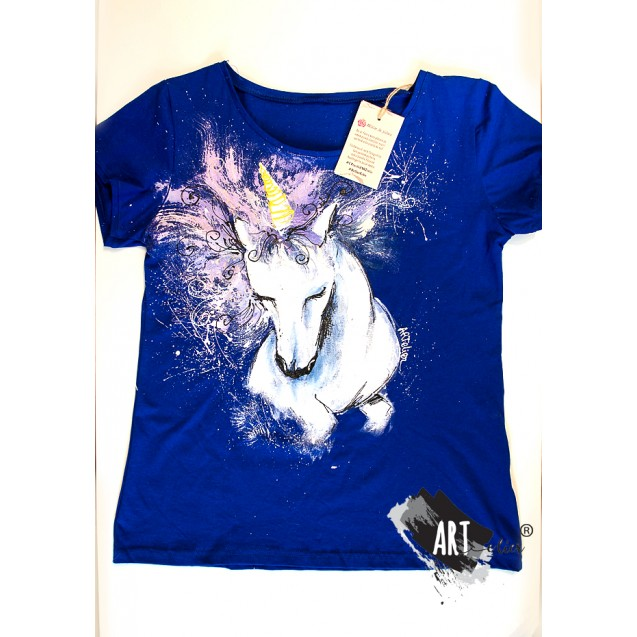 Handpainted T-shirt Pastel Unicorn