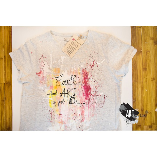 Handpainted T-shirt EARTh