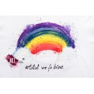 Optimistic T-shirt with Rainbow - handpainted 01