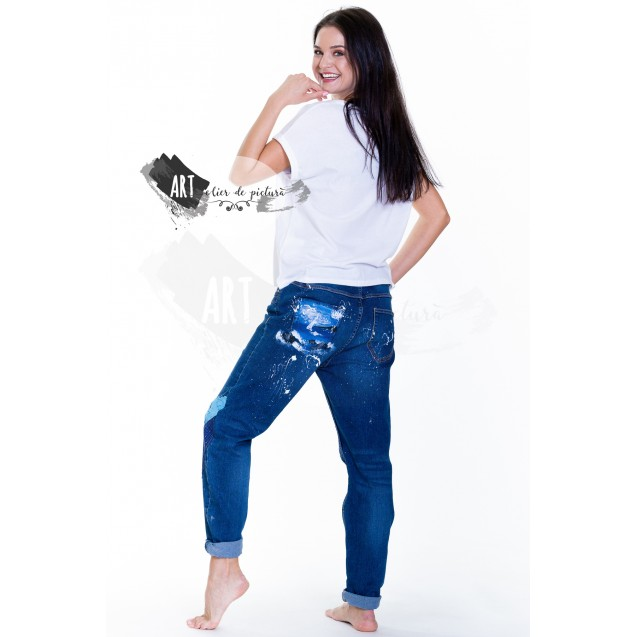 UPcycled ARTistic Jeans Black Sea Fantasy